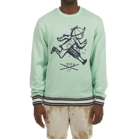 Katana Crewneck (Mist Green) - The Plug Dallas