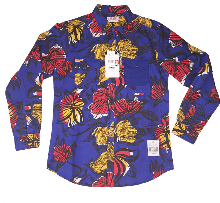 Flower Print Shirt - The Plug Dallas