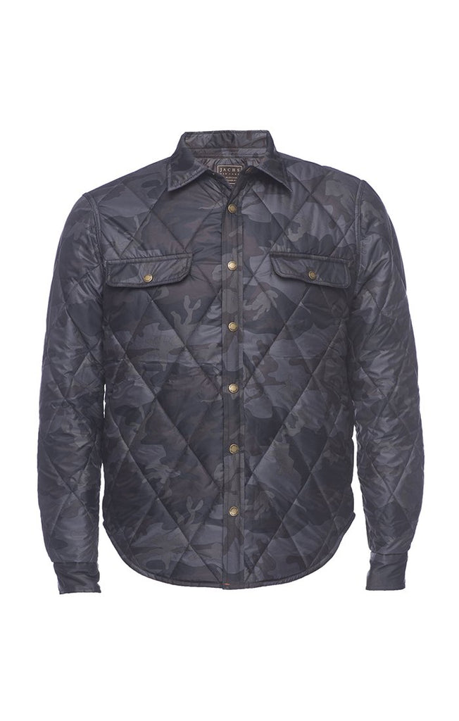 Quilted Camo Shirt Jacket - The Plug Dallas