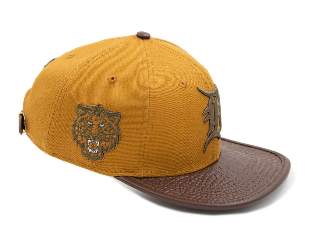 Tigers Logo Leather Strapback