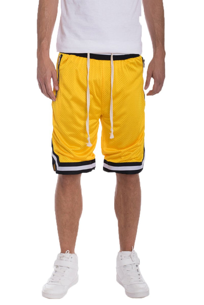 EDWIN DOUBLE MESH SHORTS- YELLOW - The Plug Dallas
