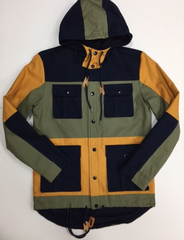 MILITARY BLOCK TWILL JACKET - The Plug Dallas