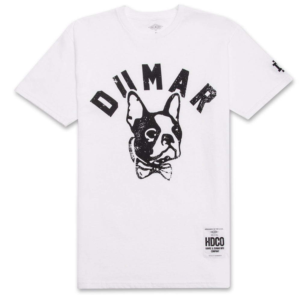 Dumar Dog Head Tee (White) - The Plug Dallas