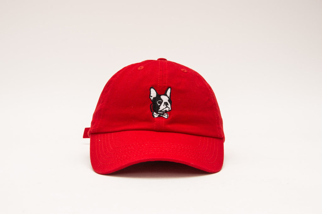 Logo Dad Hat - Red - The Plug Dallas
