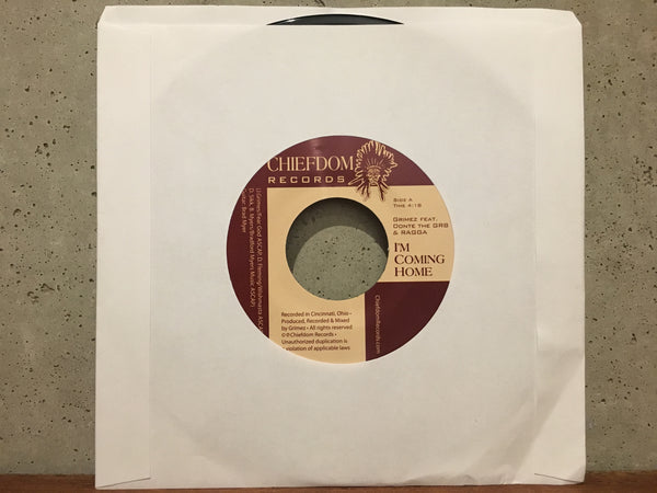 "Grimez feat. Donte( from MOOD) & Ragga  ""I'm Coming Home""   45RPM"