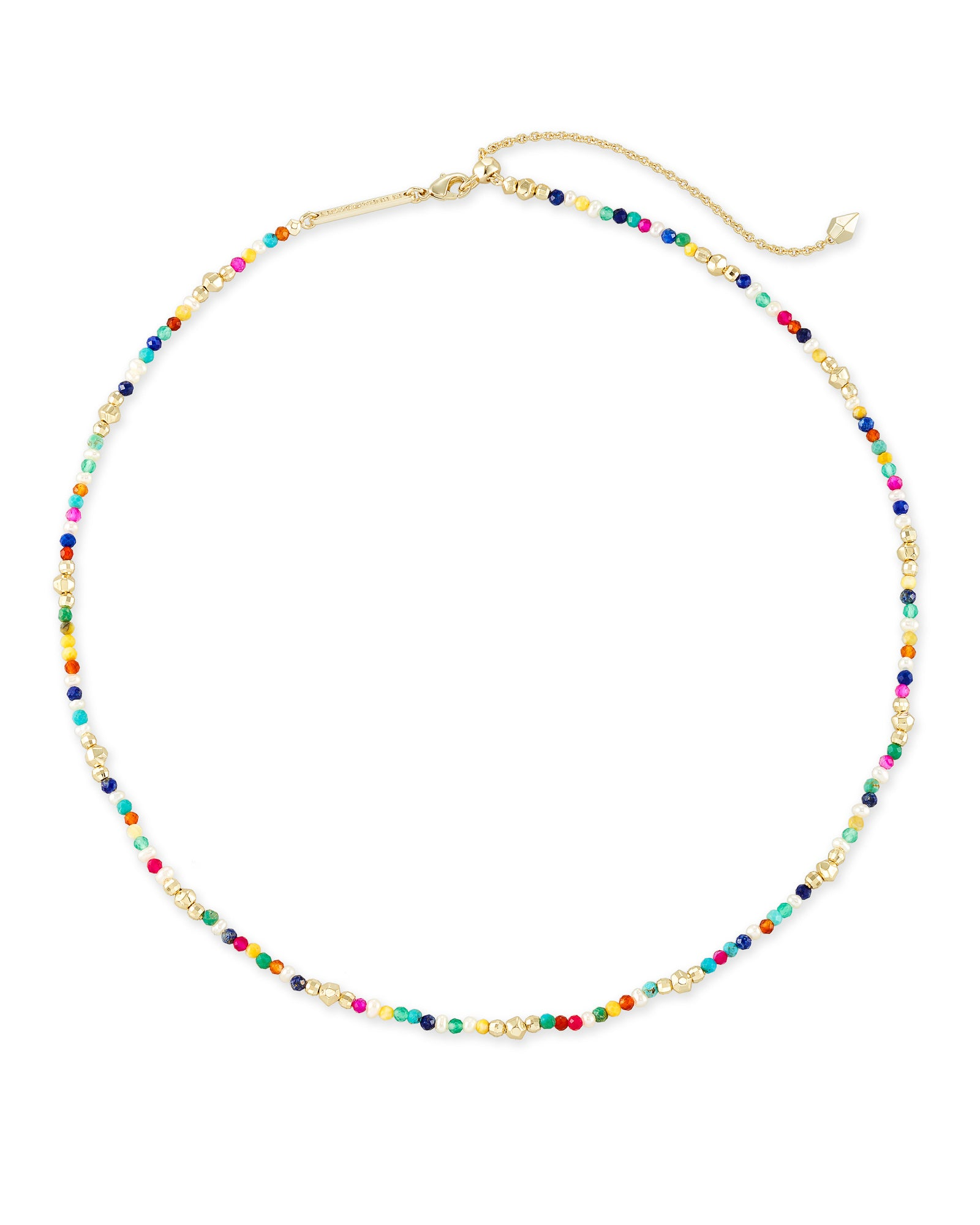 Scarlet Choker NECKLACE Gold Multi Color