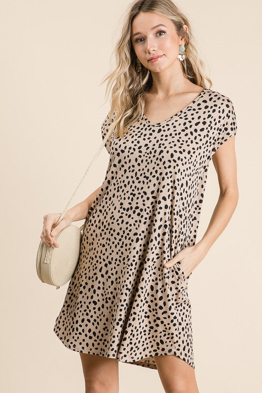 Taupe Speckled Dress