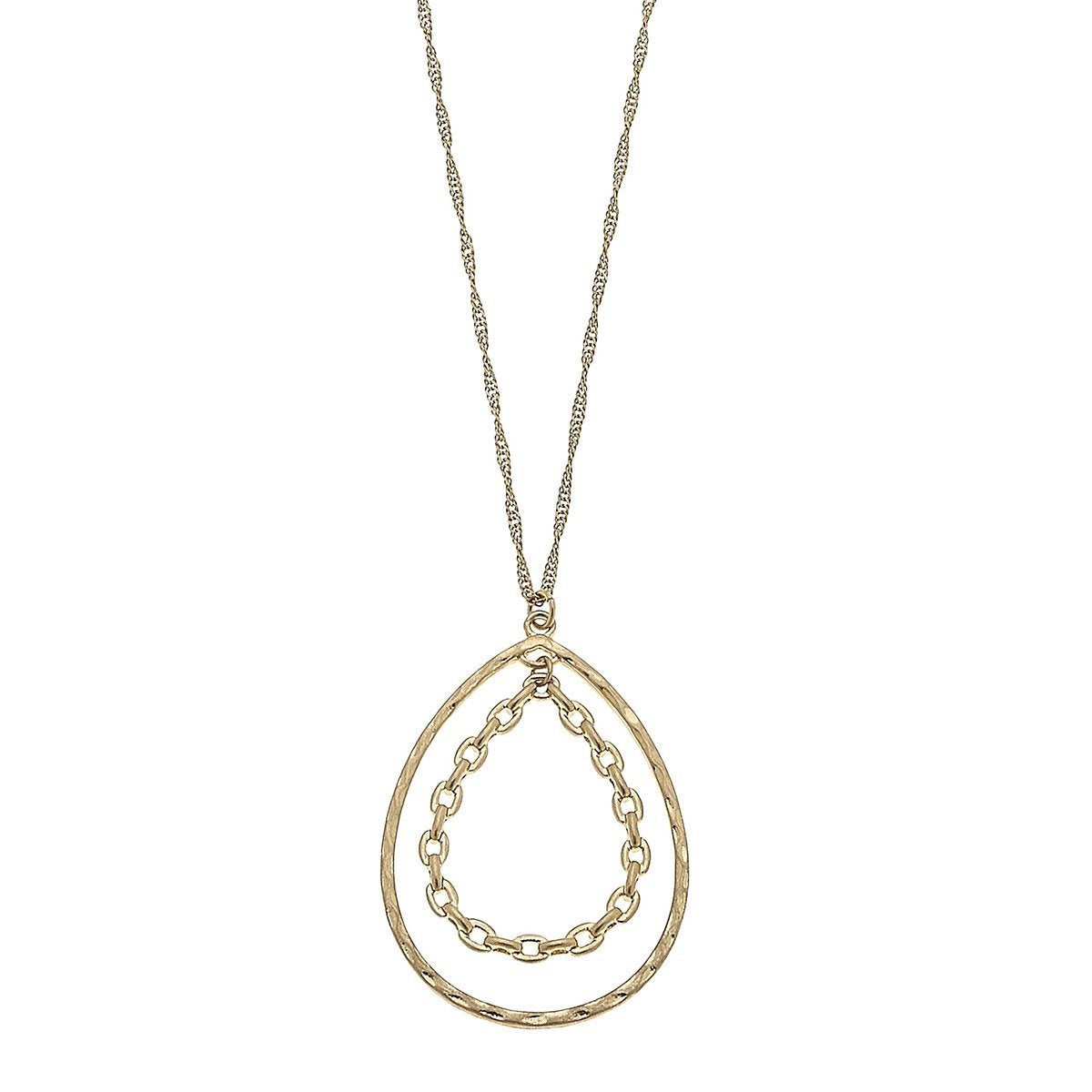 Kat Pendant Necklace In Worn Gold