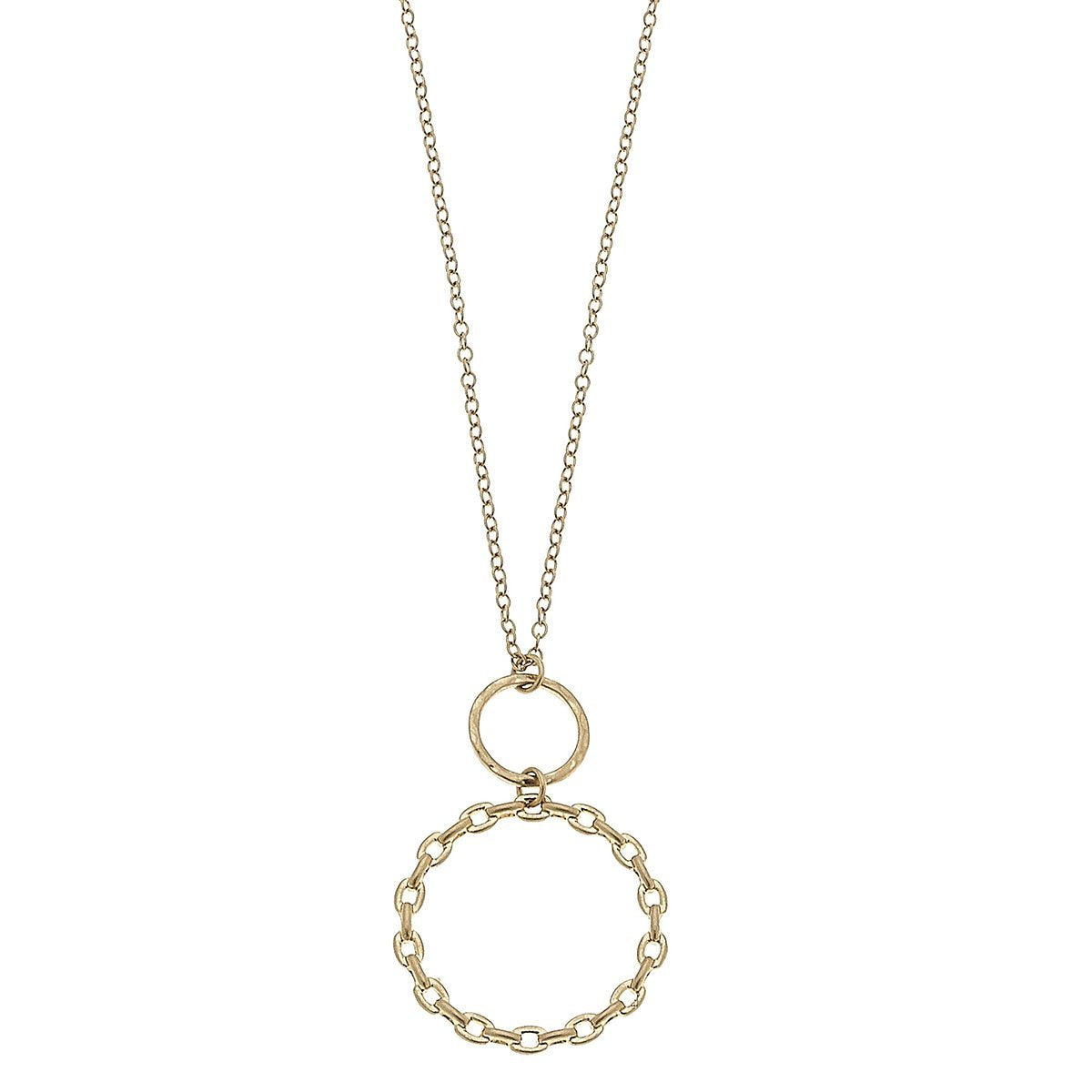 Allegra Pendant Necklace In Worn Gold