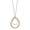 Florence Pendant Necklace in Champagne Glass