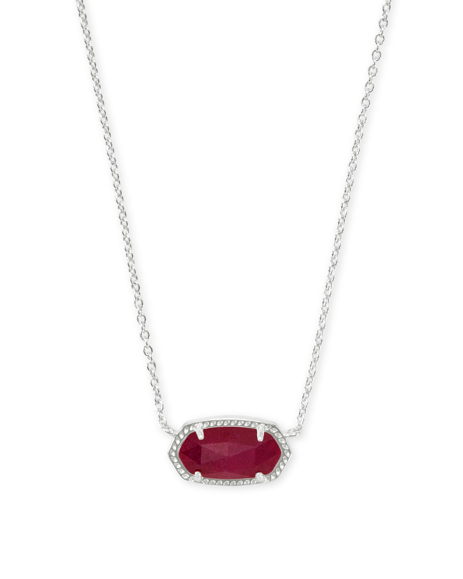 ELISA NECKLACE RHOD MAROON JADE