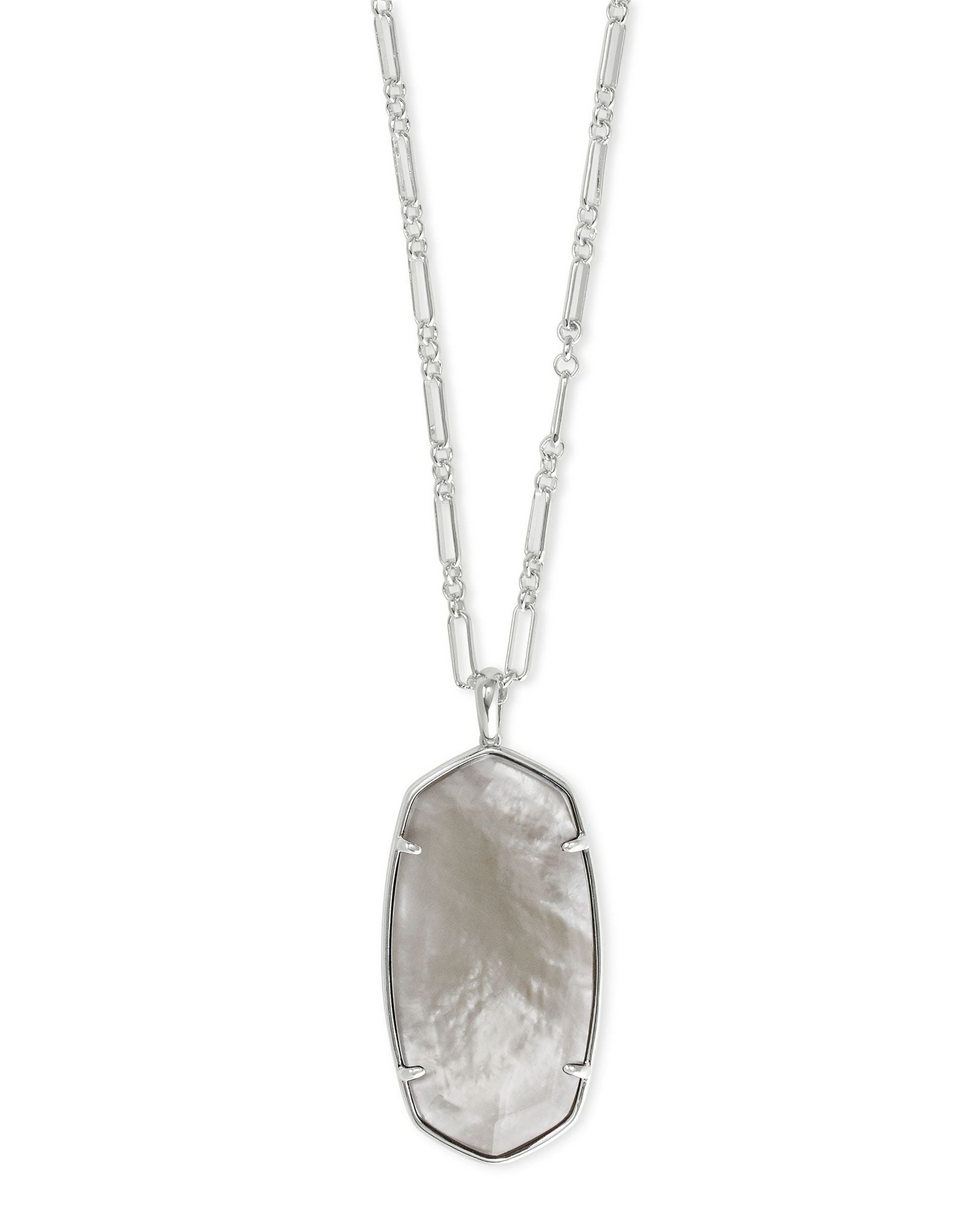 Faceted Reid Necklace Silver Gray Illusion