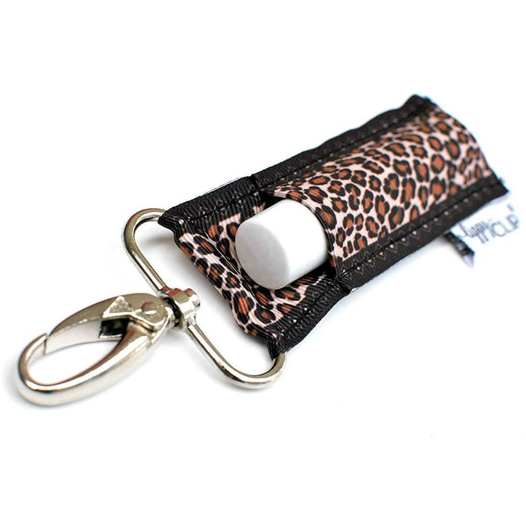 Lippy Clip Chap Stick Holder Leopard