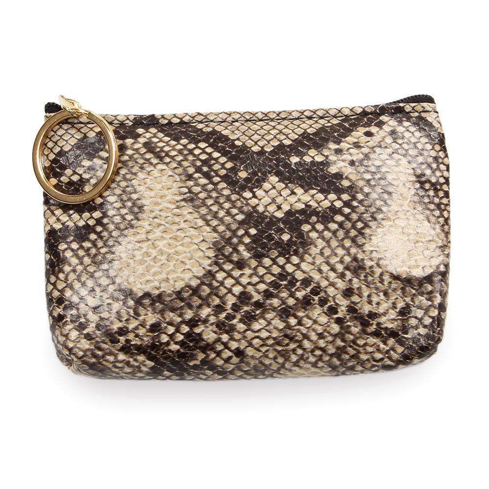 Coin Purse Key Chain - Snake Print