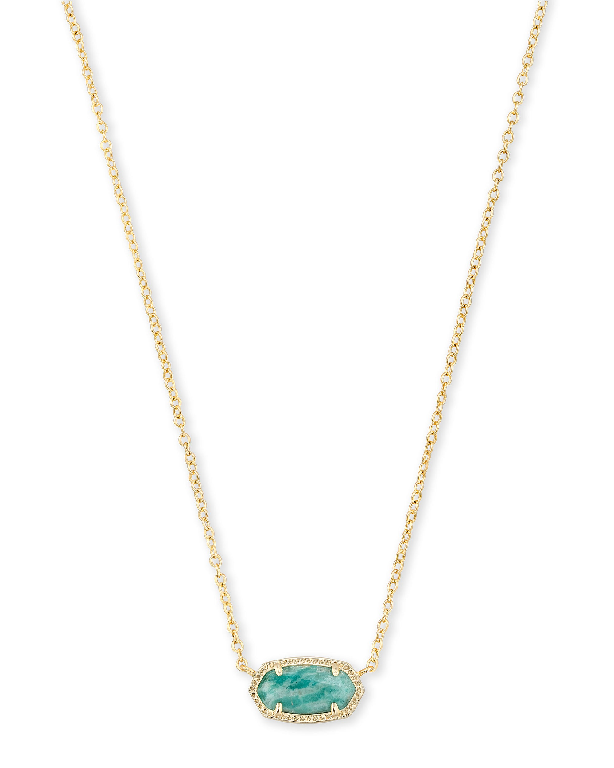 Elisa Necklace Gold Dark Teal Amazonite