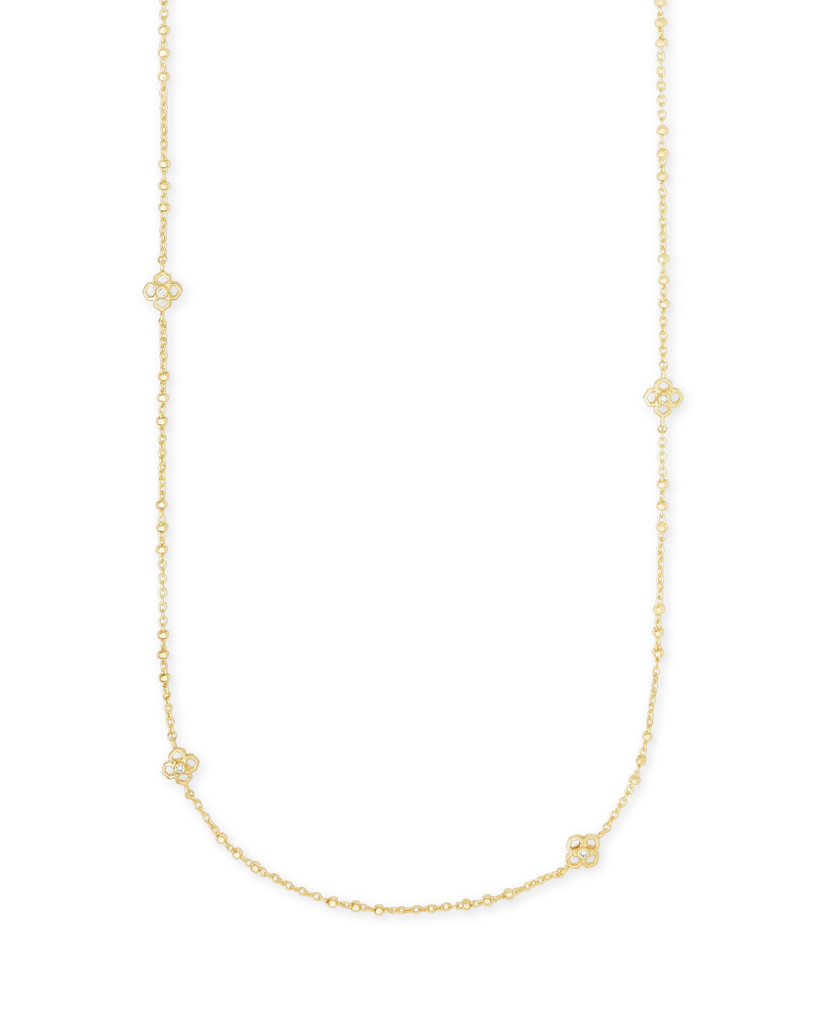 Rue Long Strand Necklace Gold