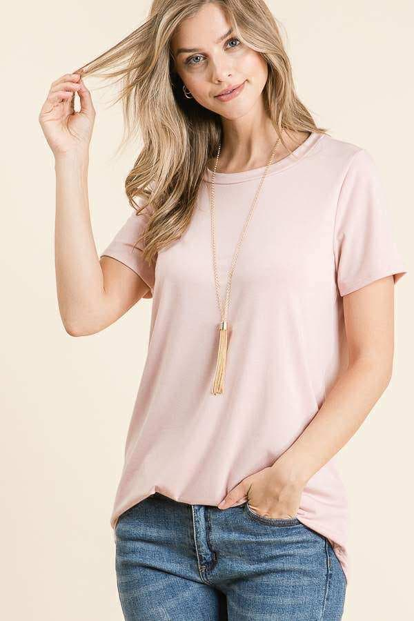 Pink Short Sleeved T Shirt