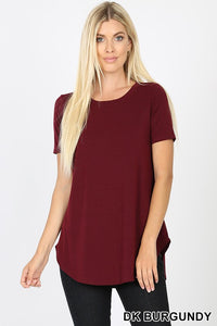 Zenana Maroon Short Sleeved T Shirt