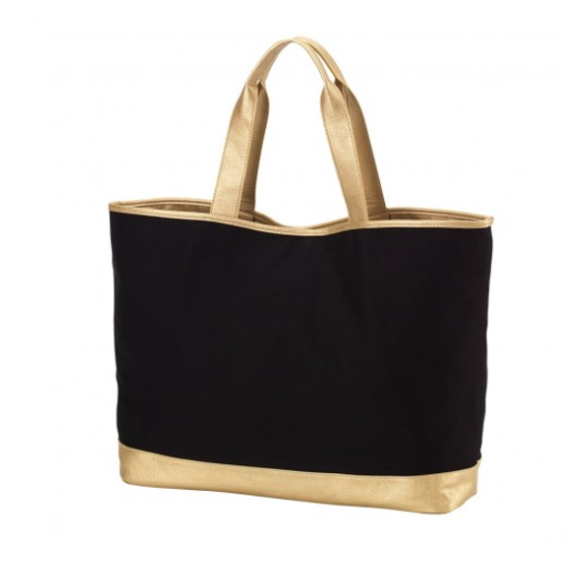 Black Cabana Tote Bag