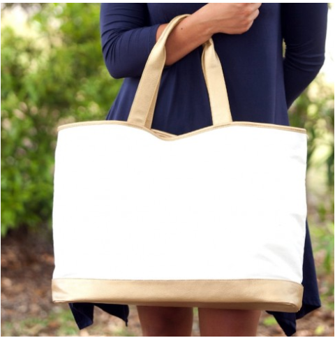Cream Cabana Tote Bag