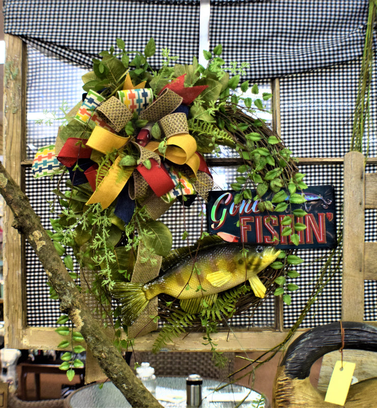 Gone Fishin' Wreath