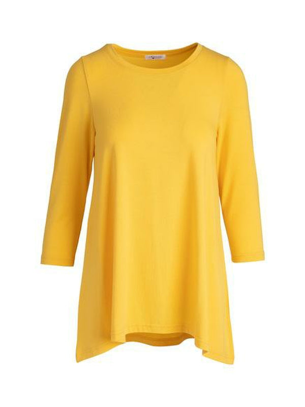 Yellow Three Quarter Sleeve Tunic