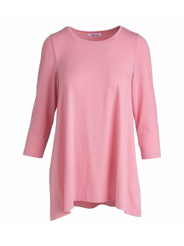 Pink Three Quarter Sleeve Tunic