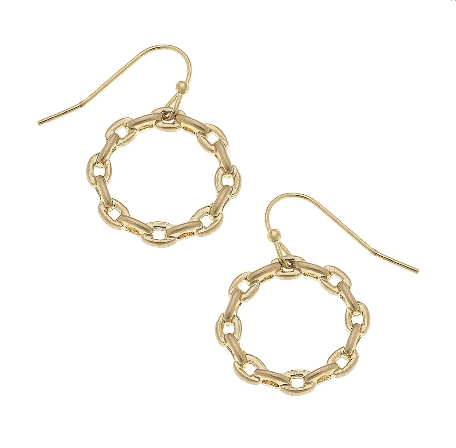 Heidi Hoop Earrings Worn Gold