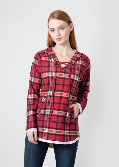 It All Plaids Up Top - Red