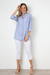 Blue Tailored Button Up Top