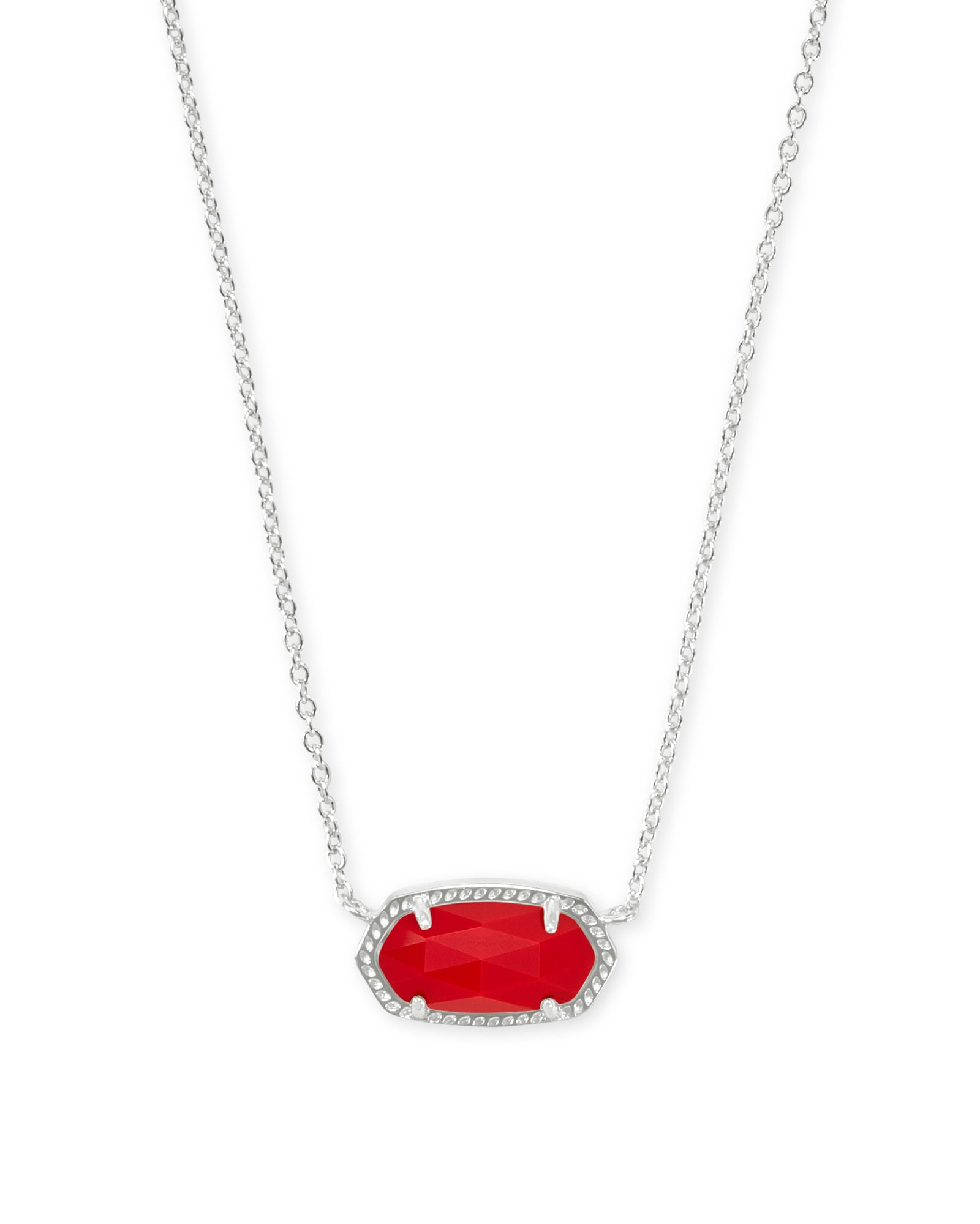 ELISA NECKLACE RHOD BRIGHT RED