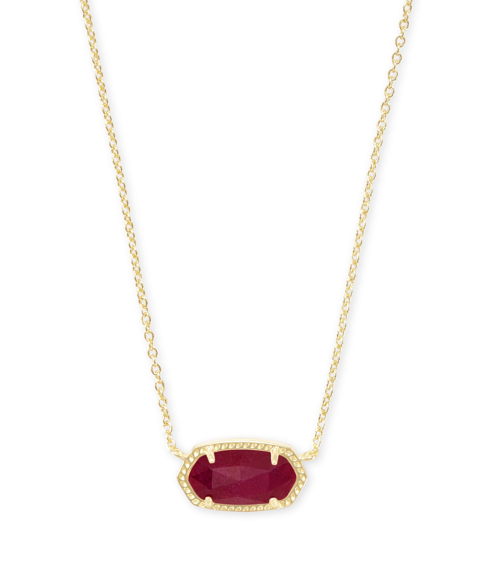 ELISA NECKLACE GOLD MAROON JADE