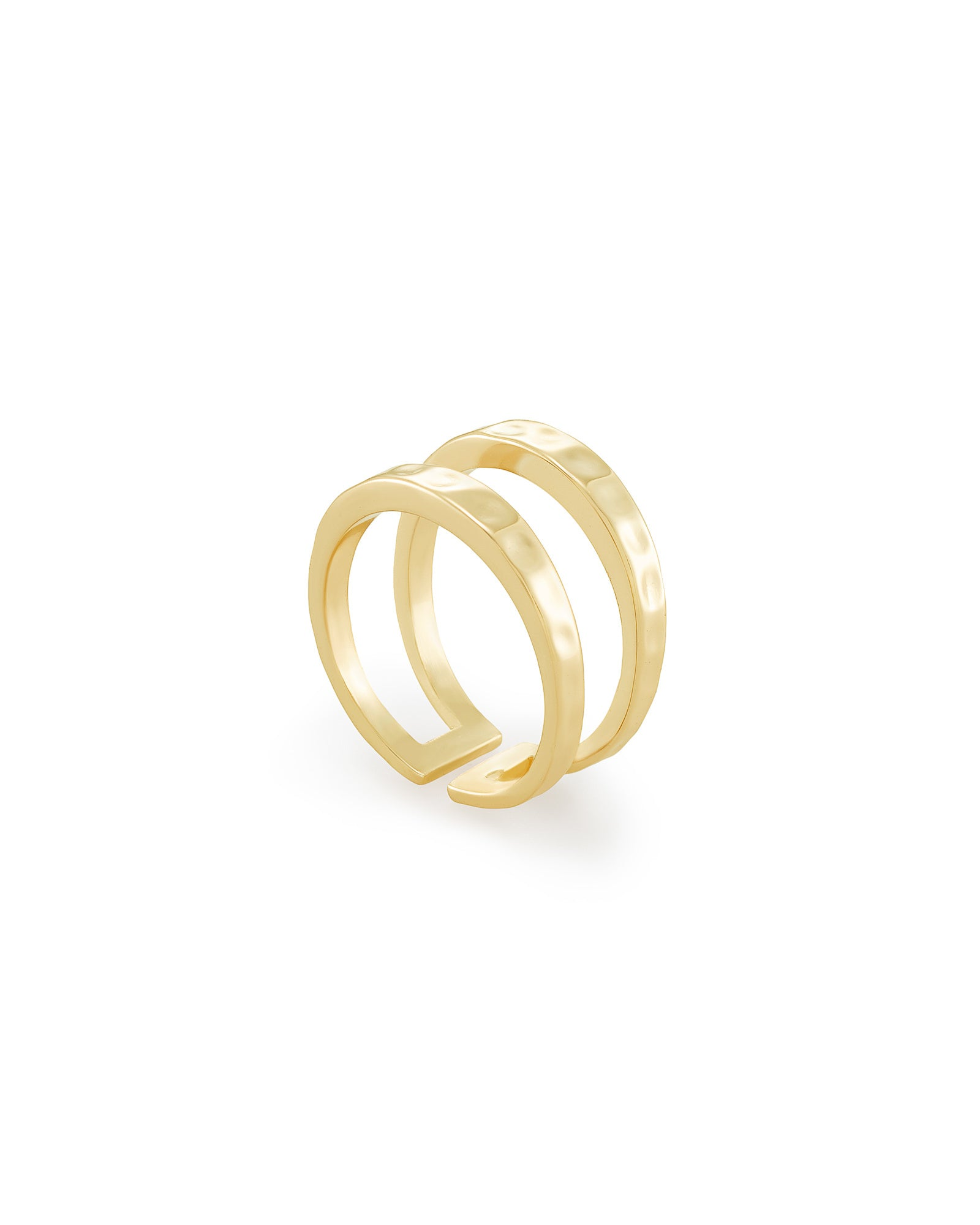 Zorte Double Band Gold Ring