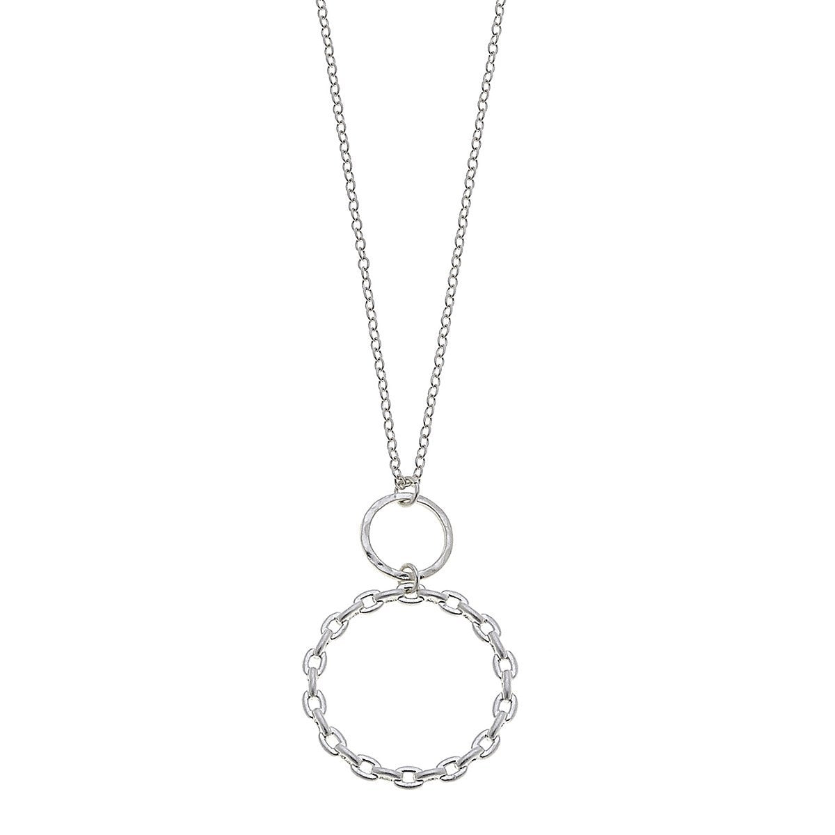 Allegra Pendant Necklace In Worn Silver