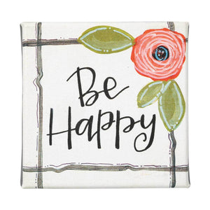 Canvas Sign - Be Happy