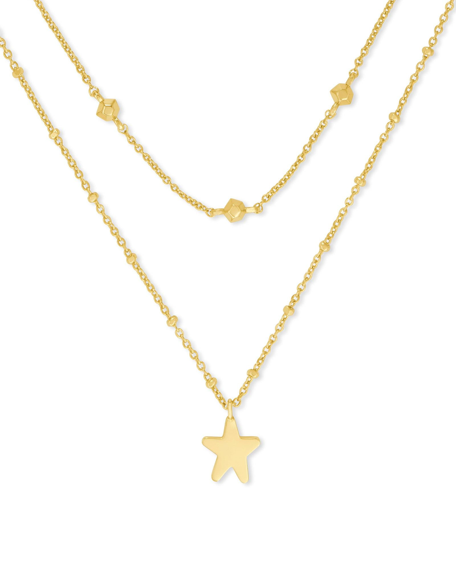 Jae Star Multi Strand Necklace - Gold