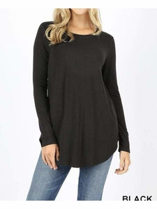 Black Long Sleeve Top - Tops