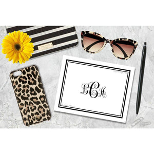 Custom Monogrammed Note Cards