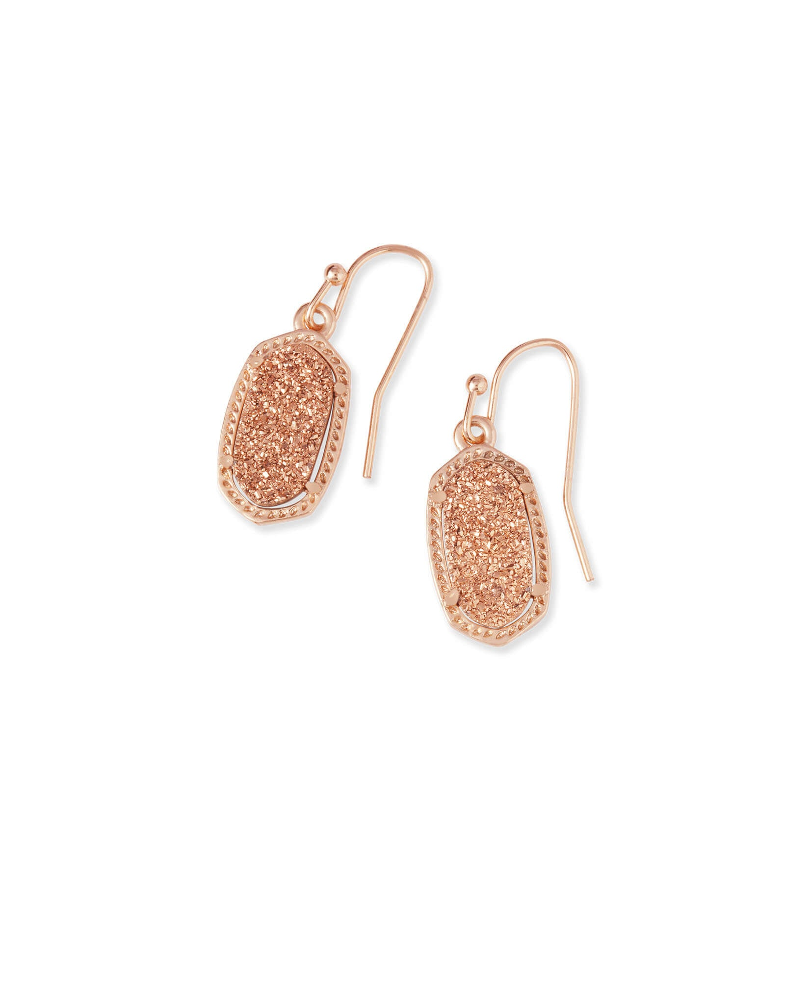 Lee Earring Rose Gold Drusy