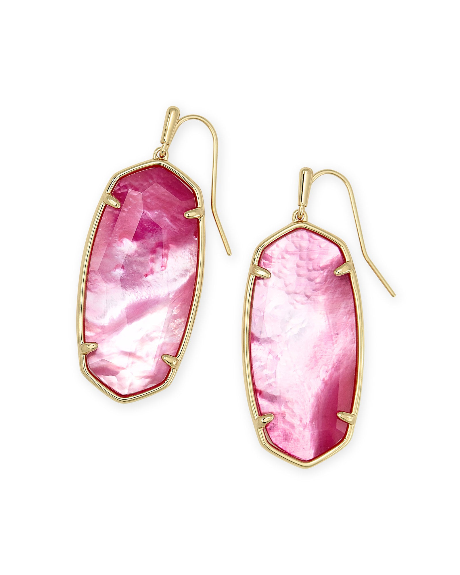 Elle EARRING Faceted Gold Blush