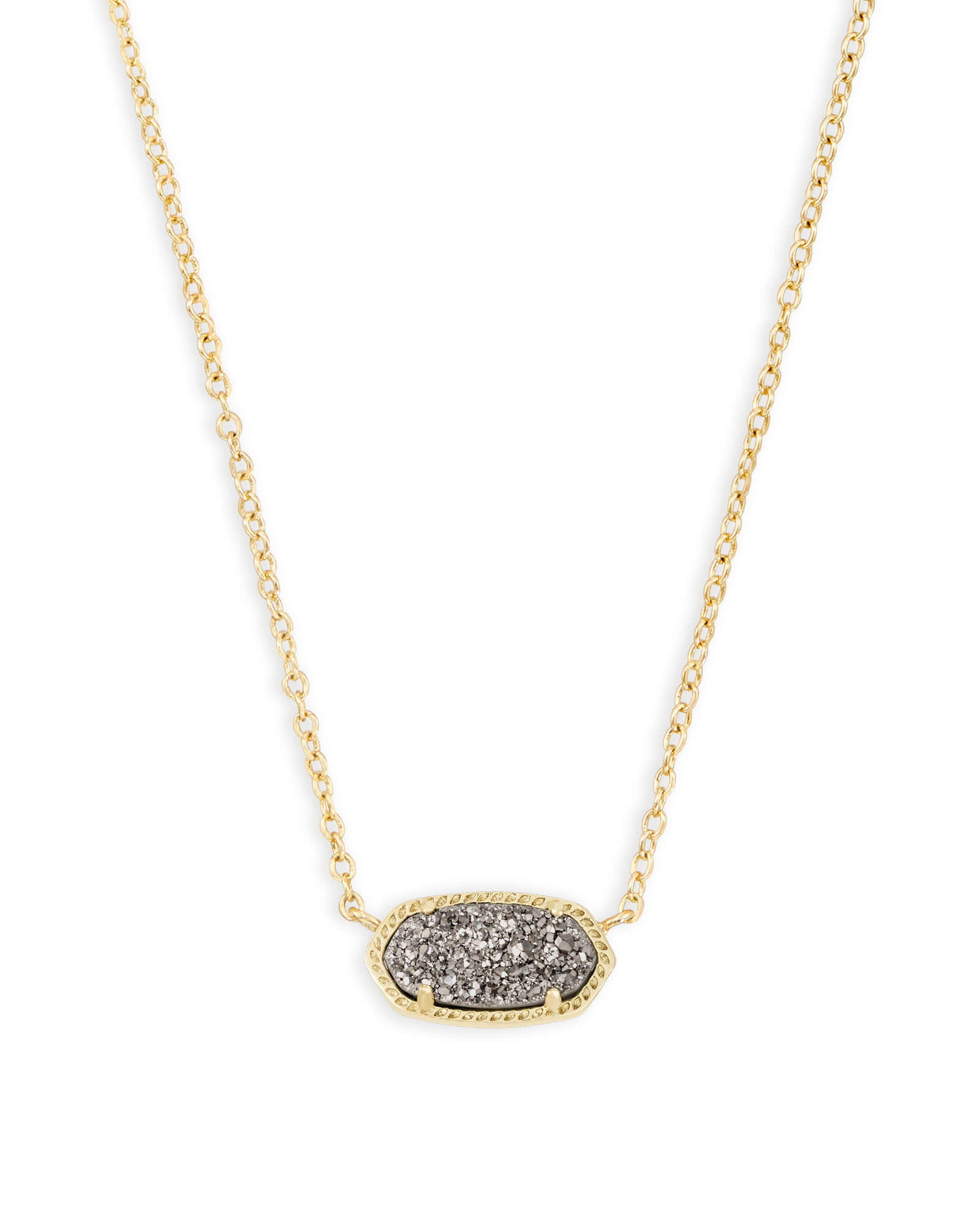 ELISA NECKLACE GOLD PLATINUM DRUSY