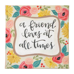 Canvas Sign - A Friend Loves At All Times