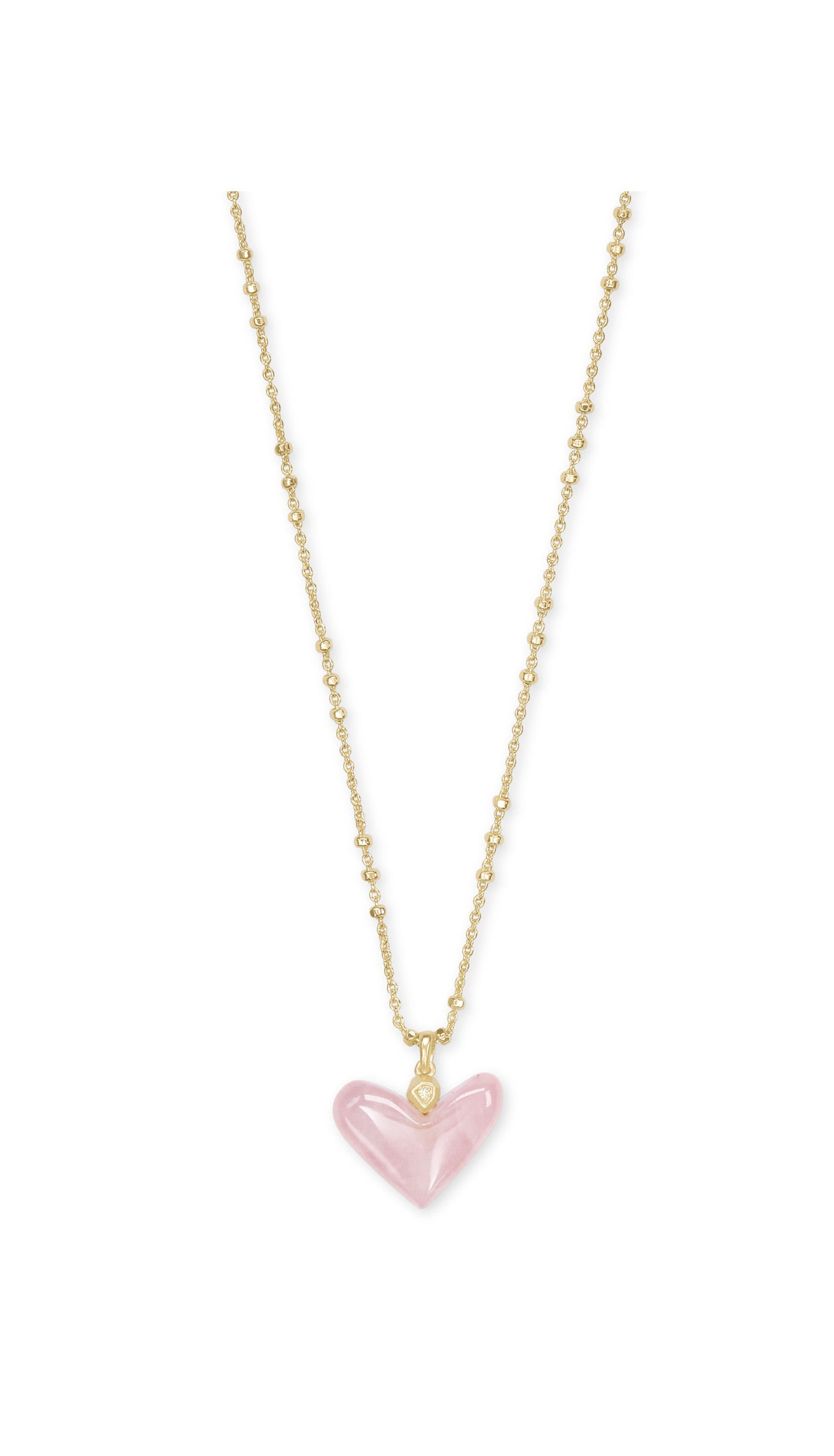 Poppy Heart NECKLACE GOLD - Rose