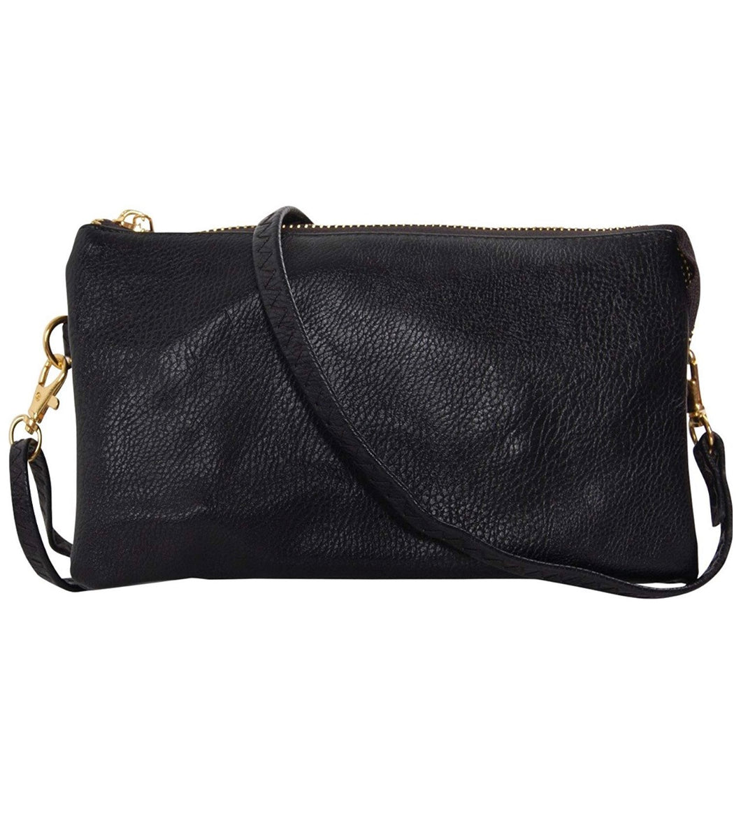 Black Wristlet or Cross Body Purse