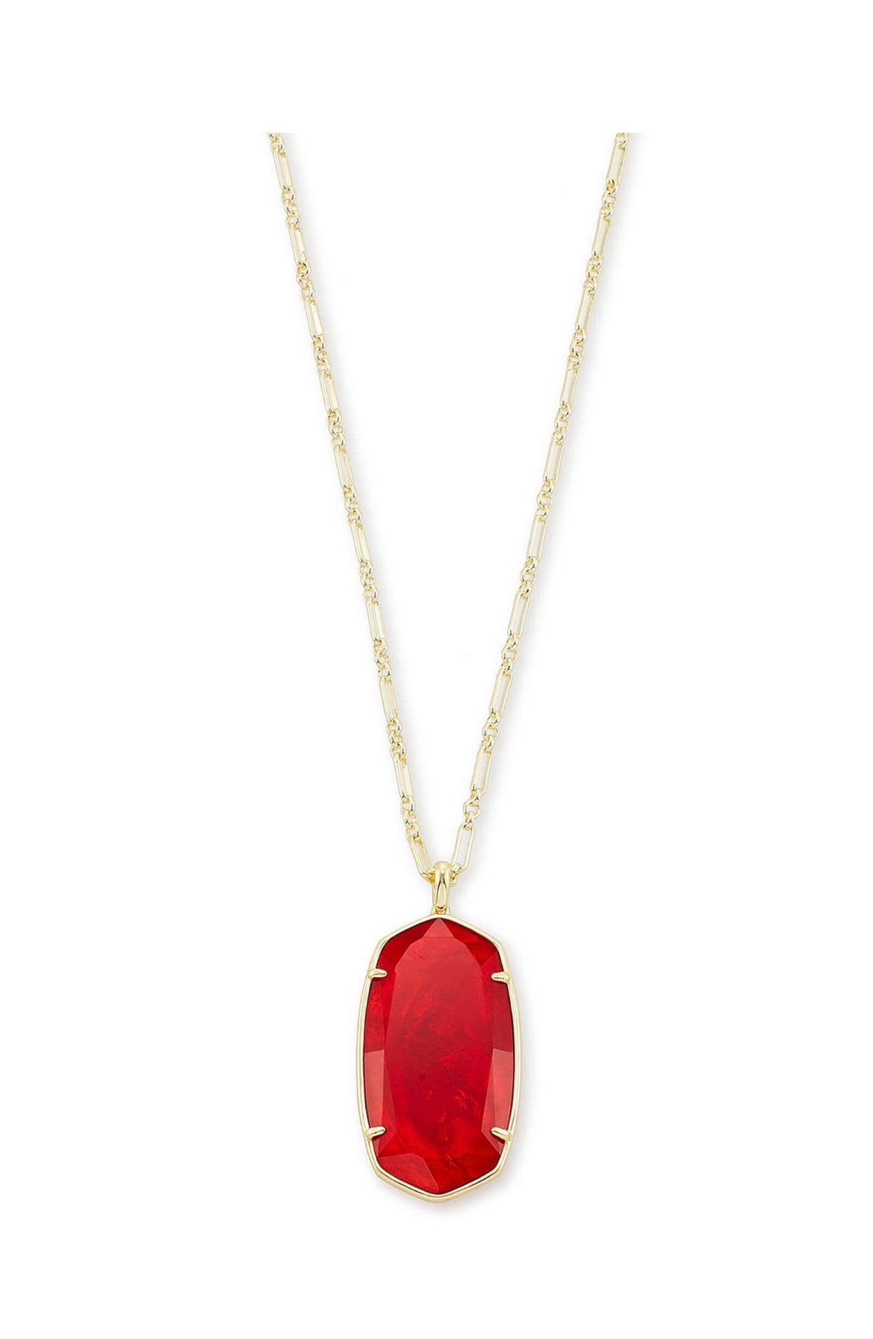 REID PENDANT NECKLACE GOLD Red Illusion