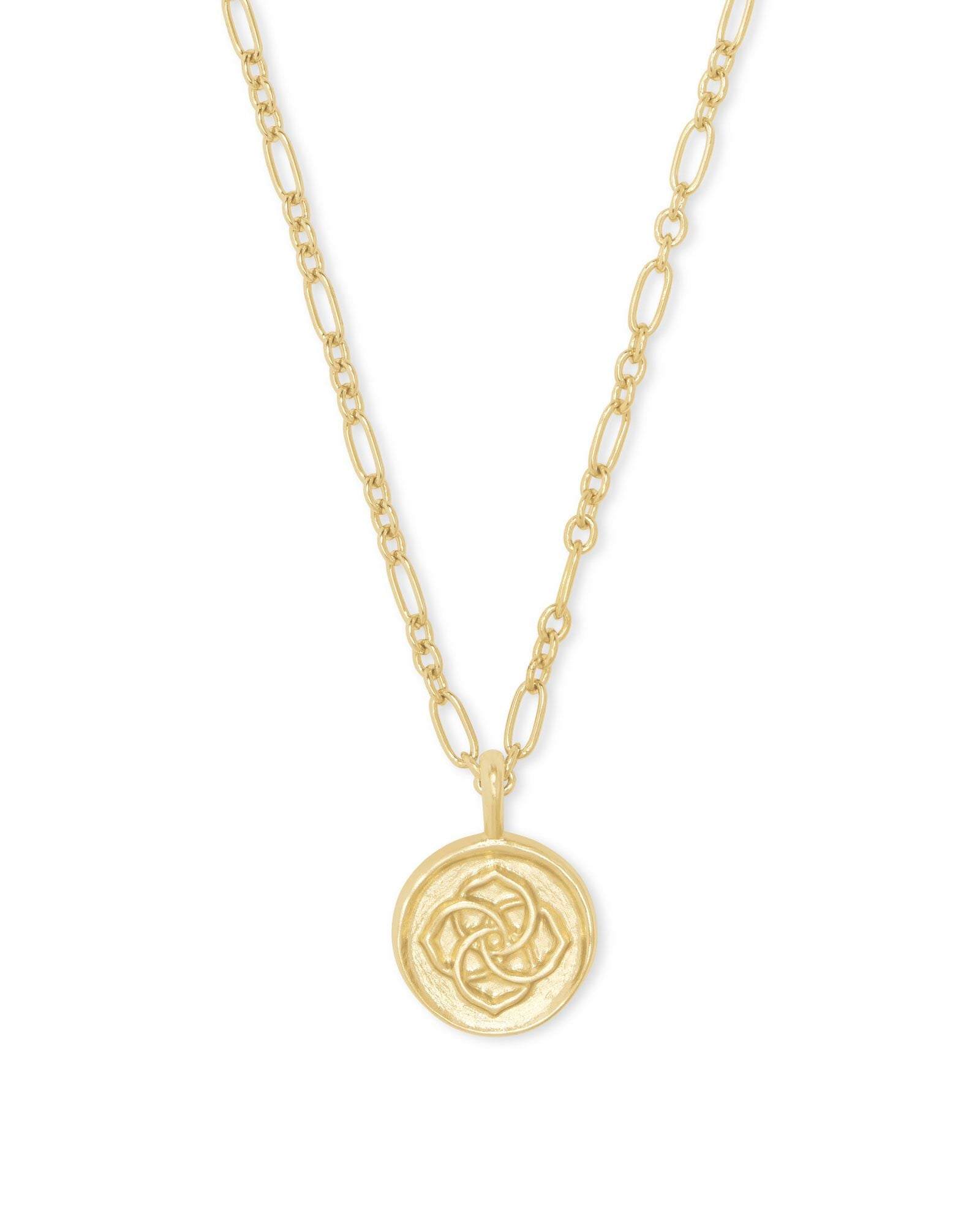 Dira Gold Coin Pendant Necklace