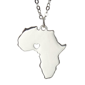 For the love of Africa Necklace (Gold or Silver)