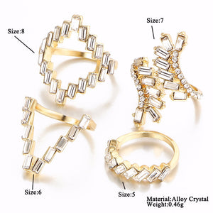 Crystal Cluster Ring Set - 2 Styles Available! - Branded Royalty