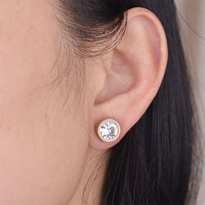 Crystal Interchangeable Stud Earrings - comes with 7 different colored stones - Branded Royalty