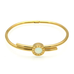 Roman Numeral Jeweled Bangle (Gold, Rose Gold or Silver) - Branded Royalty
